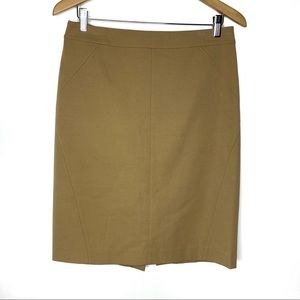 Ann Taylor Khaki Pencil skirt Size 8